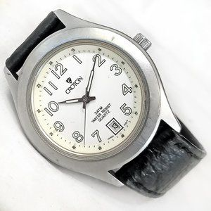 Croton Date Watch Solid Steel Case 35mm